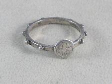 Vintage WWI 800 Silver Iron Cross Ring Italian Hallmark VI for Vicenza Sz 8