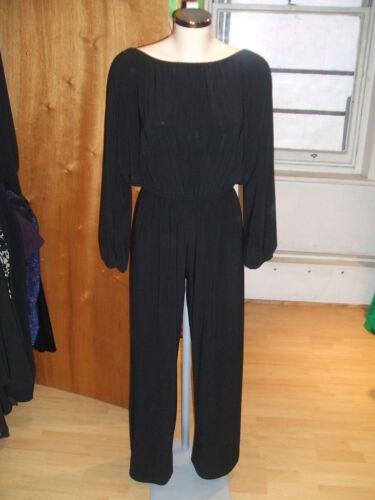 BLACK  LONG SLEEVE Jersey Bardot Cold Shoulder Jump Play Suit Baylis /& Knight