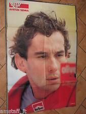 # POSTER AYRTON SENNA 1990 CM.80X54
