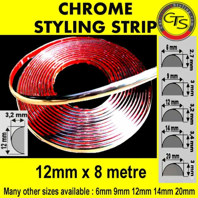 12mm CHROME CAR STRIP MOULDING TRIM ADHESIVE MERCEDES C CLASS S203 W203 190 W201