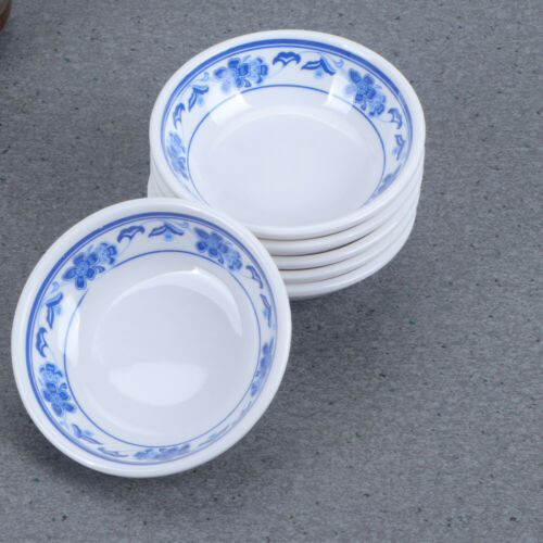 6Pcs Sauce Plates Melamine Condiment Dish Sauce Container Dipping Dishes Home