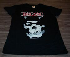 WOMEN'S TEEN BALZAC Skull T-shirt LARGE Mifits Punk Band NEW