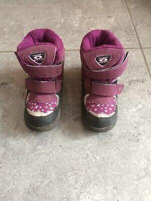 Hogo Tex Snow Gear Klett Stiefel / Boots gefüttert, lila/schwarz,