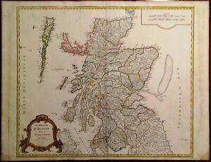 Cartina Stradale Della Scozia.Carta Geografica Antica Scozia Scotland Vaugondy 1751 Old Antique Map Ebay