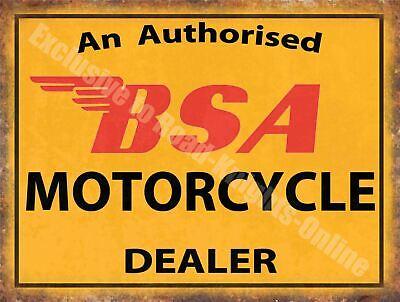 BSA Motorcycle Dealer Motorbike Vintage Garage Meta Metal//Steel Wall Sign