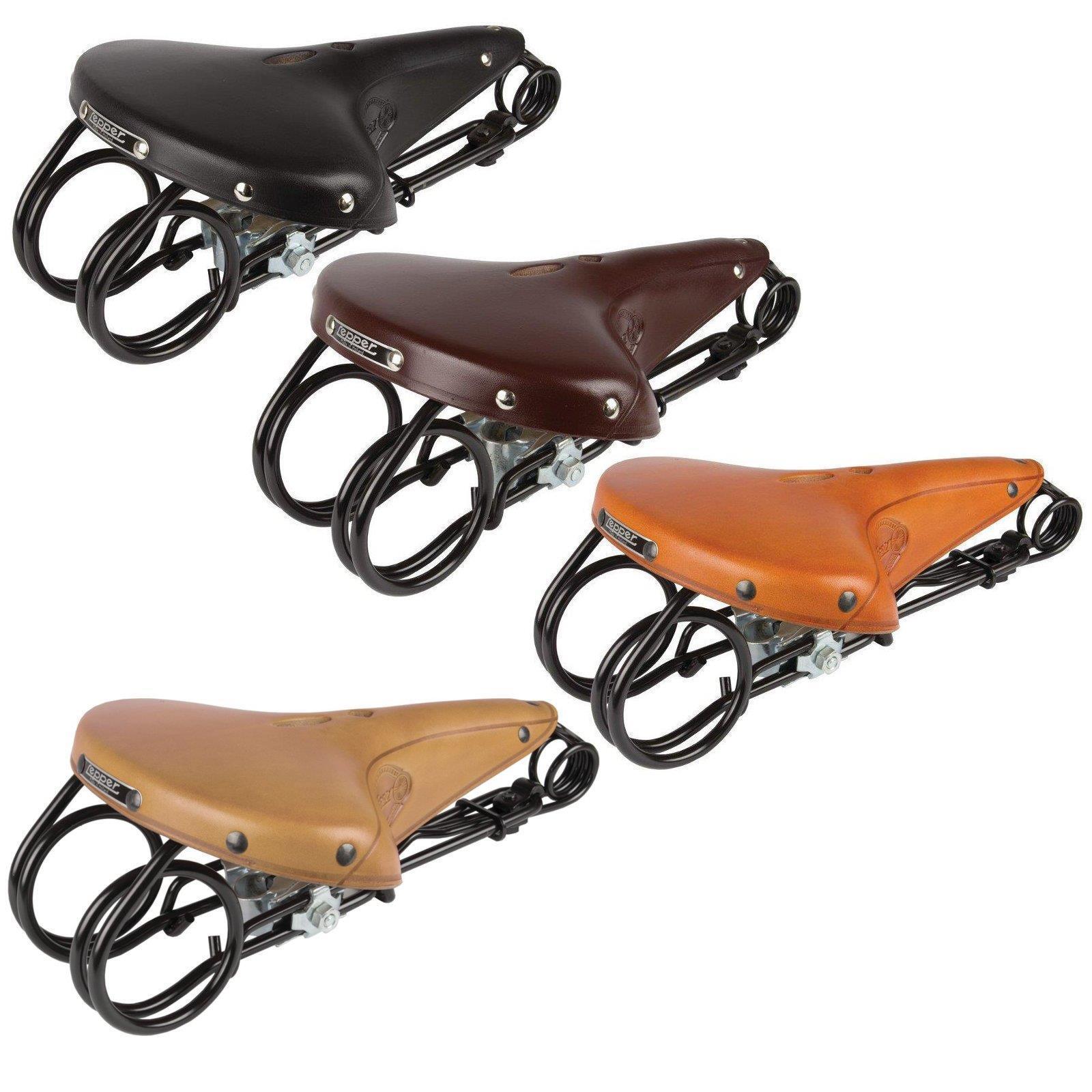 Retro Vintage Leder Fahrradsattel Dämpfung Klassische B7A7 Sitzkissen Radfa I6K1