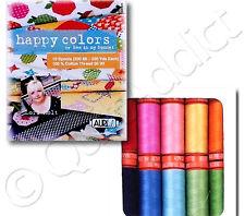 Aurifil Thread Set - Happy Colors by Lori Holt - 10 Small Spools - 100% Cotton