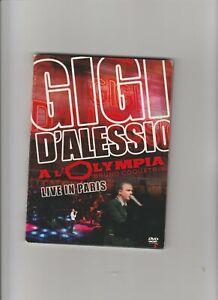 GIGI D'ALESSIO - DVD CONCERTO PARIGI 2007, 27 BRANI ESEGUITI, COME NUOVO