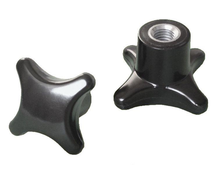 Kreuzgriffmutter M10 - DIN 6335 Kreuzmutter Stahlgewinde Ø 50mm --- MENGE wählba