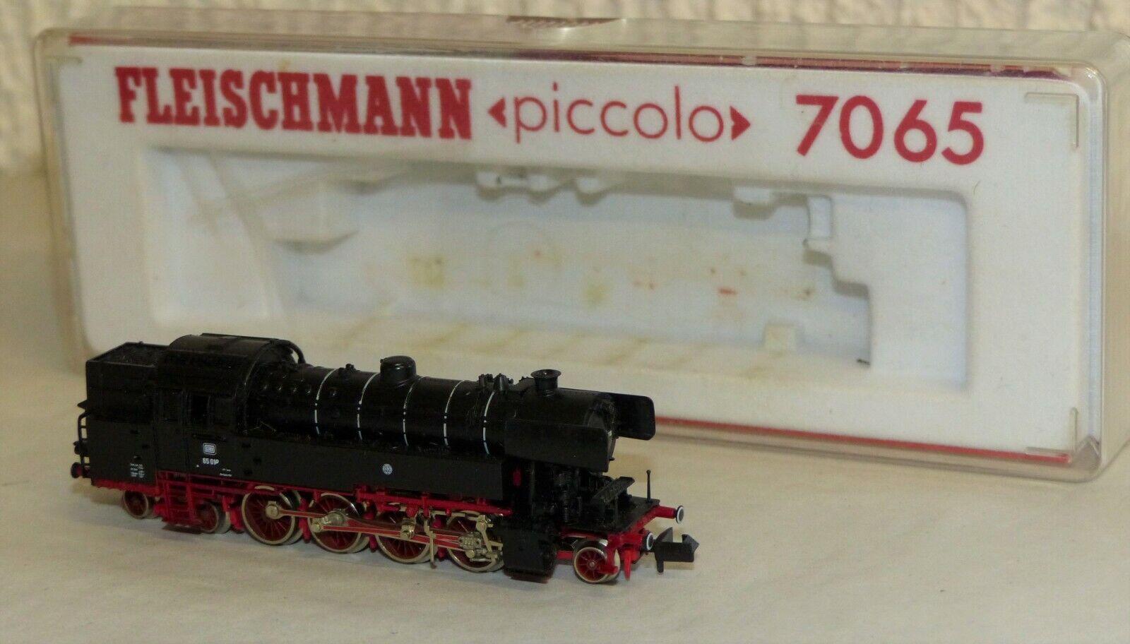 Fleischmann 7065 máquina de vapor br 65 018 DB pista n OVP
