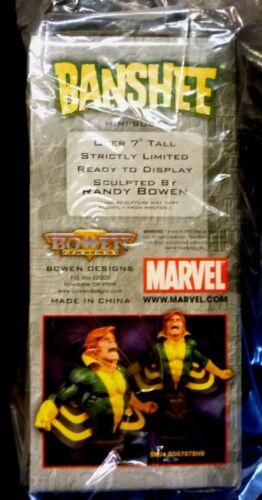 Banshee X-Men Bust Statue Bowen Designs Marvel Comics New Factory Sealed