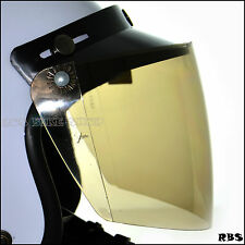 Smoky flip up face shield + Visor  for vintage open face helmet Arai Fulmer