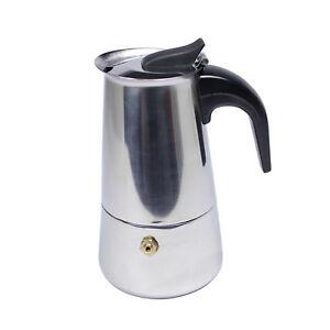 Image Is Loading 100ml Italian Espresso Coffee Maker Stainless Steel Moker