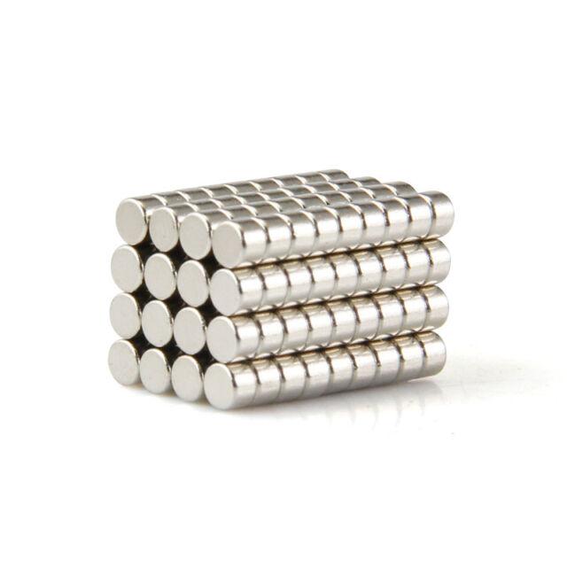 50Pcs Strong N35 Neodymium Magnets Rare Earth Round Disc Fridge Craft 3x2mm