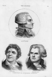 1874-Antique-Print-PORTRAITS-Ninety-Three-Revolutionary-Triumvirate-231