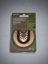 """RW8946 Rockwell Sonicrafter 3-1//8/"""" Universal Carbide Grit Semicircle Blade"""