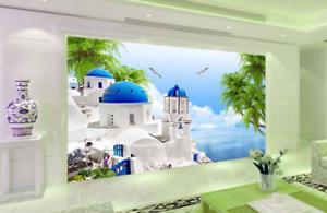 3D Sky Bunker Sea 883 Wallpaper Mural Paper Wall Print Wallpaper Murals UK Lemon