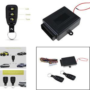 Universal Car Keyless Central Locking Remote Control Kit Door Lock Entry System