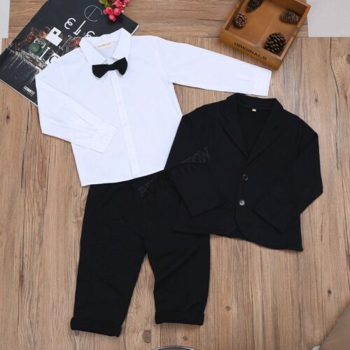Baby Boys Kids Gentleman Formal Outfit Party Wedding Clothes Suit Jumpsuit Set