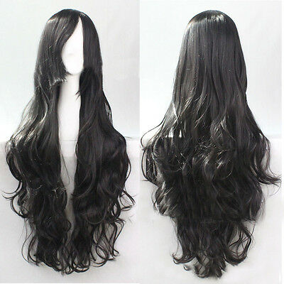 "Women 32""/80cm Long Curly Wavy Hair Fashion Wig Costume Cosplay Party Full Wig"