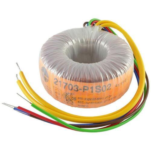 Talema 21703-P1S02 Trafo 30VA 230V 2x18V 2x0,83A Ringkern-Transformator 856920