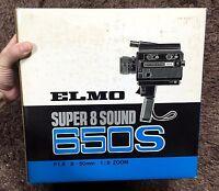 ELMO SUPER 8 SOUND 650S  JAPAN 8mm camera 8mm film camera