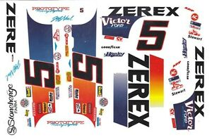 HO Scale Slot Car Decals #5 Jeff Neal Zerex Tbird 1//64th