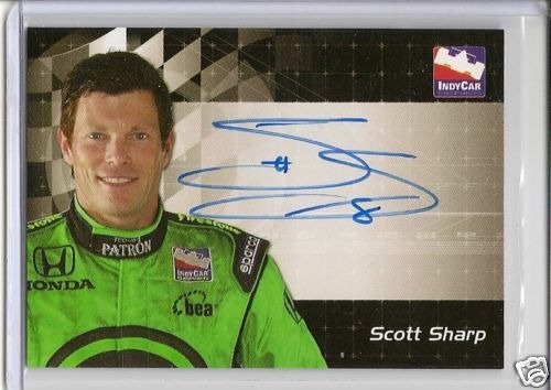 RARE 2007 Rittenhouse on card Scott Sharp auto INDY