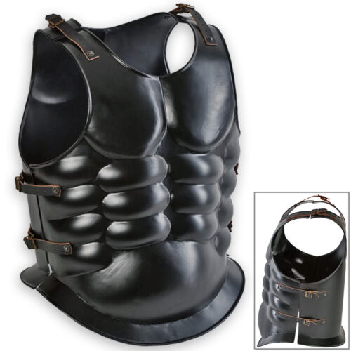 Undead Knight Cuirass 18ga Functional Armor Black Muscles Plate Carbon Steel
