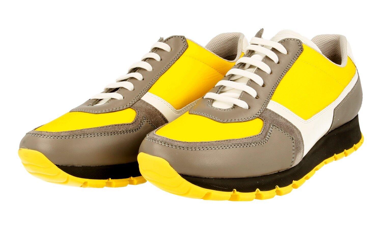 shoes PRADA LUSSO 3E6026 ACCIAIO yellow NUOVE 38,5 39