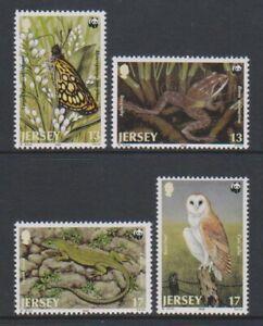 Jersey-1989-Endangered-Faune-Wwf-Avec-Oiseaux-Ensemble-MNH-Sg-492-5