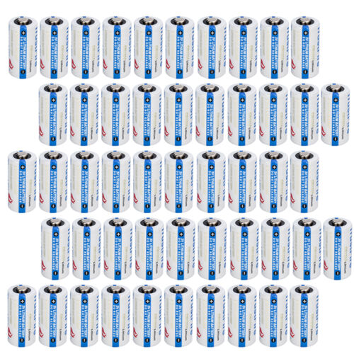 50PCS 3.0V Lithium CR123A 123 CR123 Battery for Camera, Flashlight etc From USA