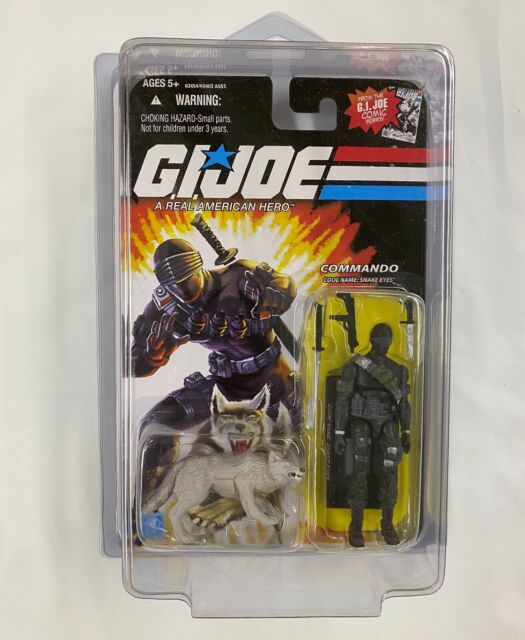 G.I. Joe SNAKE EYES Commando & TIMBER Action Figure COMIC SERIES WITH CASE 2008