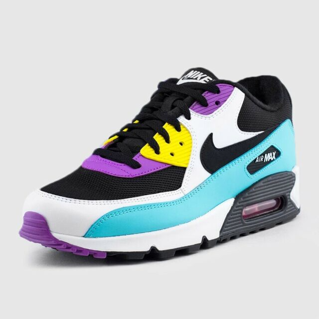 Nike Air Max 90 Essential Black/White/Violet Size 13 Mens Running Shoes