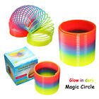 Fun Round Rainbow Circle Plastic Coil Spring Slinky Kids Baby Educational Toys