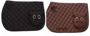 EquiRoyal-Quilted-English-Pocket-Saddle-Pad-Horse-Tack-30-995