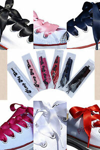 Fancy-Ribbon-Shoelaces-With-Logo-Tips-for-Kids-Childrens-Adults-Crystal-Trainers