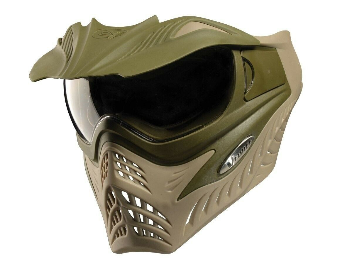 VFORCE Ultra Low Profile GRILL Paintball Airsoft Thermal Goggle Mask Dual OD Tan
