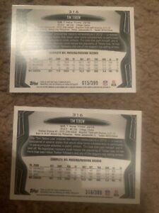 2013 Topps TIM TEBOW Rare Serial Number Lot Jersey & Bible Number Variation 1/1!