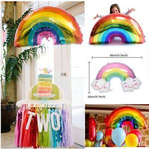 Rainbow-Ballons-sourire-Cloud-Anniversaire-Decorations-de-fete-aluminium-ballons