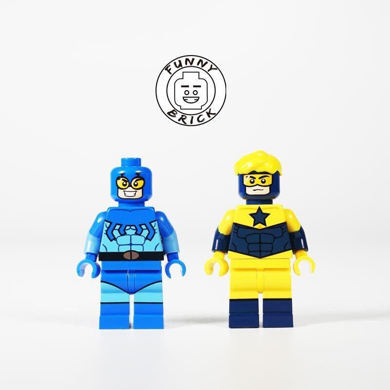 Lustiges Stein Blau Beatle & Boost Gold Lego Minifigur, 2er Set