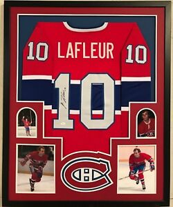 the best attitude 2bc1b 64bfc Details about FRAMED GUY LAFLEUR AUTOGRAPHED SIGNED MONTREAL CANADIENS  JERSEY JSA COA