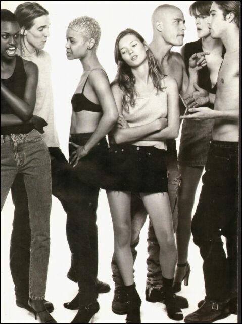 1995-Kate Moss`Young `Rare, Calvin Klein Fragrance Print Ad 2-pgs (061714)