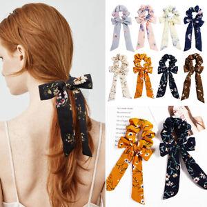 Sweet-Print-Bow-Streamers-Hair-Ring-Fashion-Ribbon-Girl-Hair-Bands-Headwear
