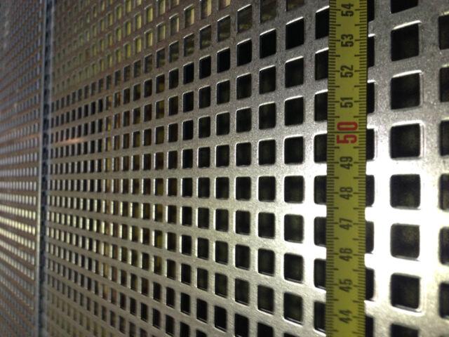 Lochblech Stahl Verzinkt 1000 mm x Ihre Wunschlänge x 1,5mm (Qg 10-15) Neu