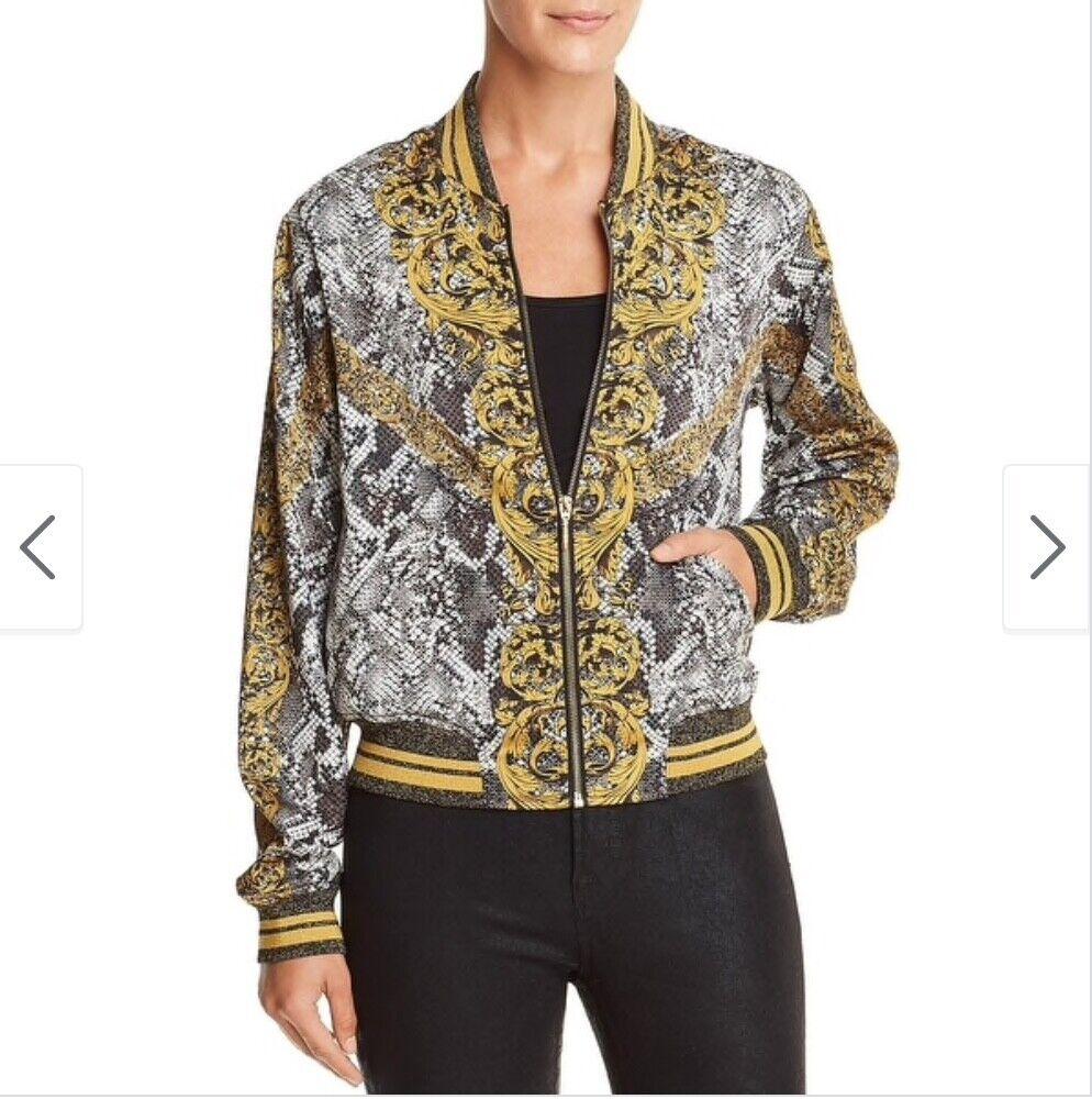 GUESS baroque Rae bomber jacket, women's size Sma… - image 5