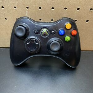 OEM Microsoft Xbox 360 Black Wireless Controller - Tested -X855106-002-Free Ship
