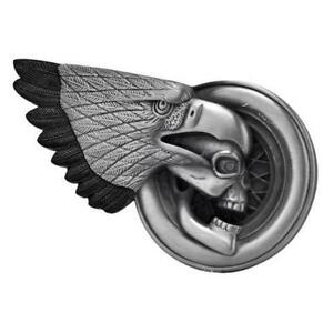 Skull-amp-Eagle-Biker-Belt-Buckle-motorcycle-biker-belt-tattoo-trucker-Vintage