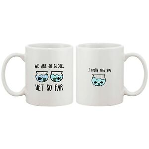 Long Distance Relationship Ceramic Mugs Cute Gift Idea I Really