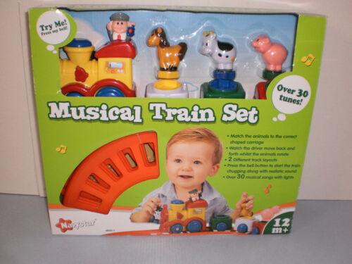 New Navaystar Musical Train Set Lights Sound Rotating Animals 12m